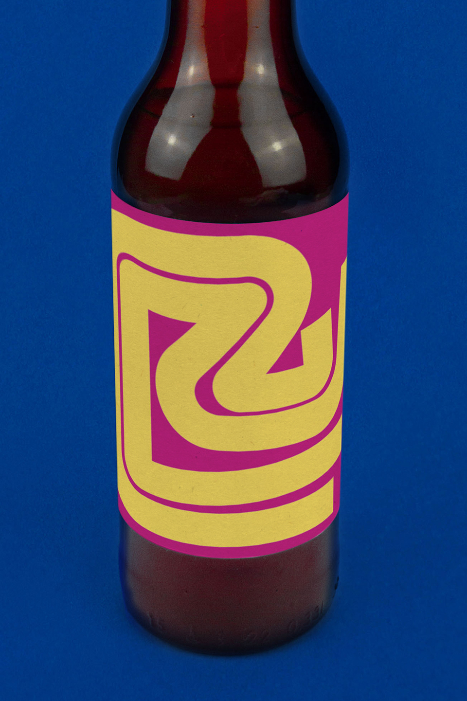 Conic-bottle-front-bright-pink